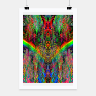 Dragon Rainbow Exhalation Poster Bild der Miniatur