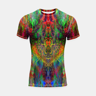 Thumbnail image of Dragon Rainbow Exhalation Shortsleeve rashguard, Live Heroes