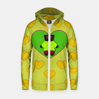 Home of the cartoon bears Zip up hoodie thumbnail image