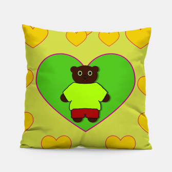 Home of the cartoon bears Pillow thumbnail image