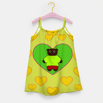 Home of the cartoon bears Girl's dress thumbnail image