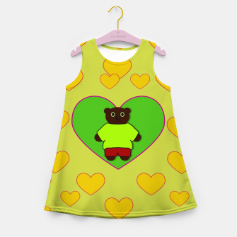 Home of the cartoon bears Girl's summer dress thumbnail image