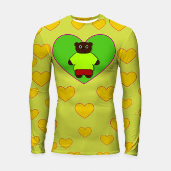 Miniatur Home of the cartoon bears Longsleeve rashguard , Live Heroes