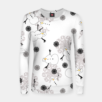 Thumbnail image of Snowman Pattern Women sweater, Live Heroes