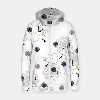 Thumbnail image of Snowman Pattern Zip up hoodie, Live Heroes