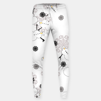 Snowman Pattern Sweatpants thumbnail image