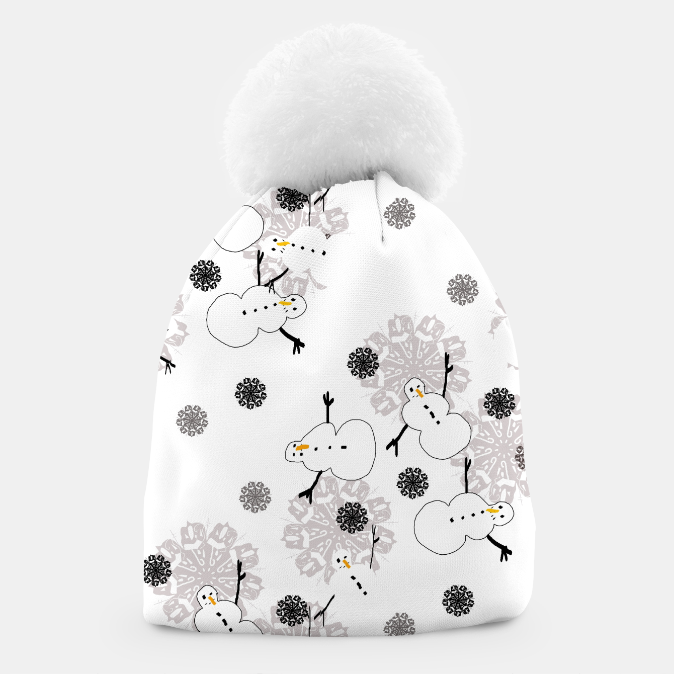 Image of Snowman Pattern Beanie - Live Heroes