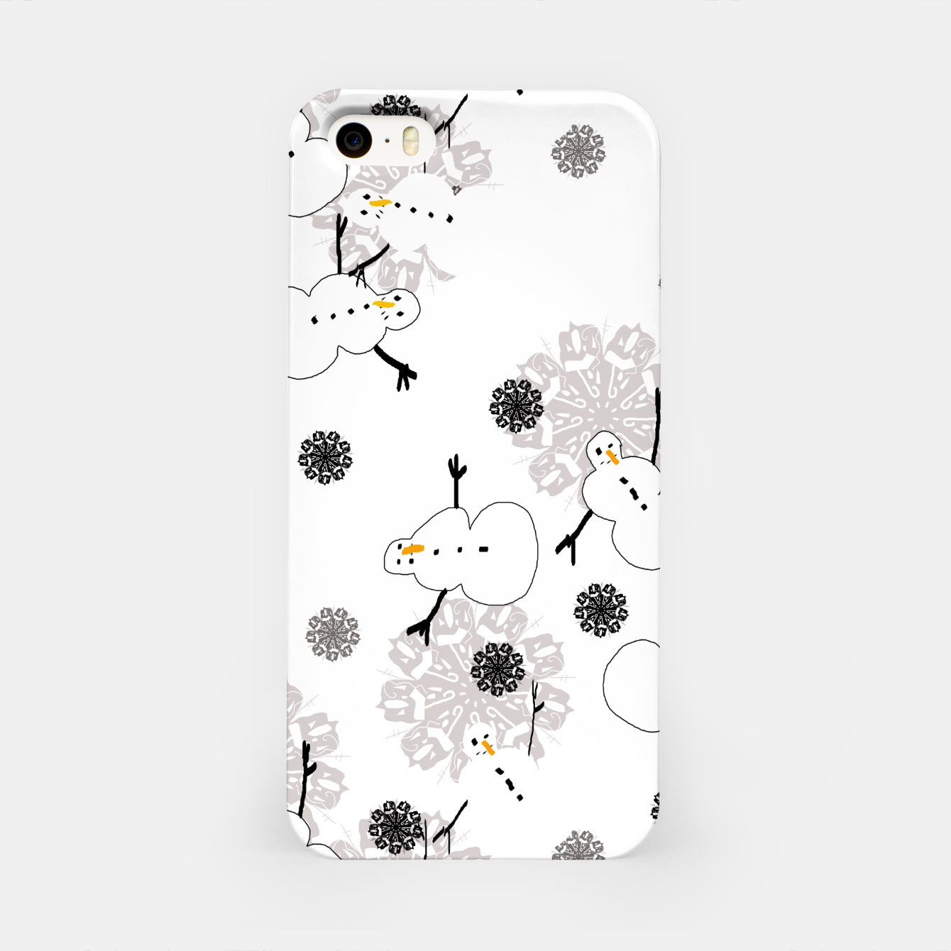 Image of Snowman Pattern iPhone Case - Live Heroes