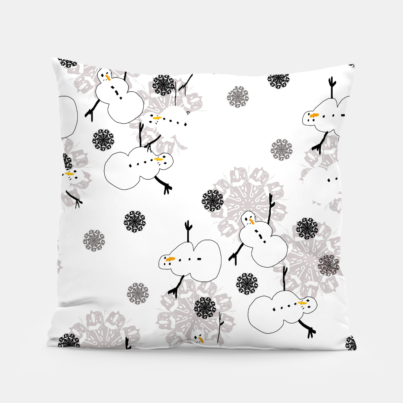 Image of Snowman Pattern Pillow - Live Heroes