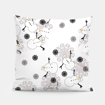 Thumbnail image of Snowman Pattern Pillow, Live Heroes