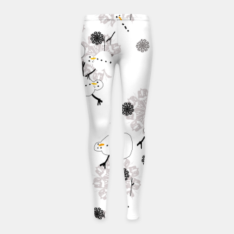 Thumbnail image of Snowman Pattern Girl's leggings, Live Heroes