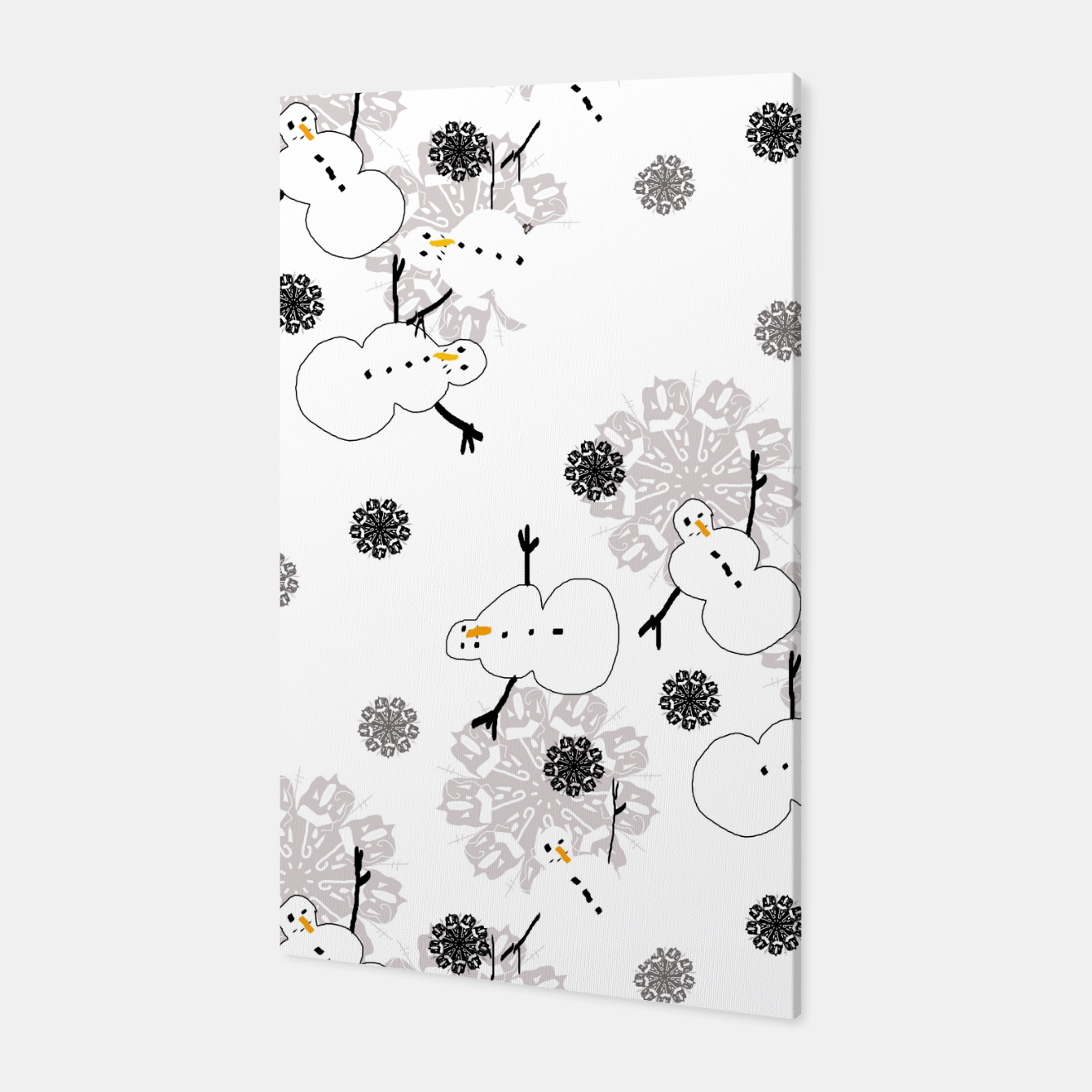 Image of Snowman Pattern Canvas - Live Heroes