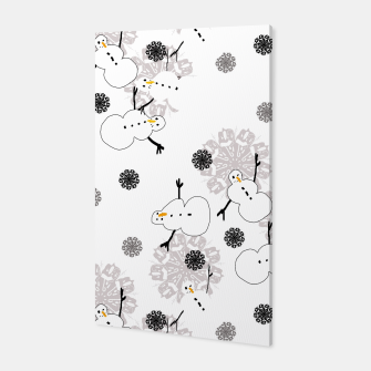 Snowman Pattern Canvas thumbnail image