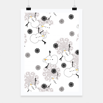 Thumbnail image of Snowman Pattern Poster, Live Heroes
