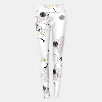 Thumbnail image of Snowman Pattern Leggings, Live Heroes