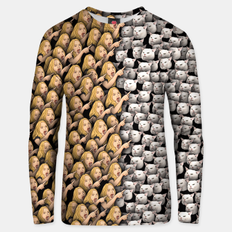 Thumbnail image of Womans Yelling at Cats Unisex sweater, Live Heroes