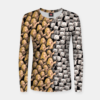 Thumbnail image of Womans Yelling at Cats Women sweater, Live Heroes
