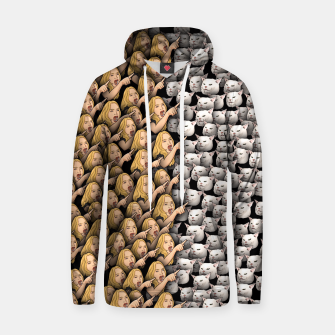 Miniatur Womans Yelling at Cats Hoodie, Live Heroes