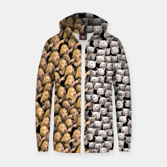 Thumbnail image of Womans Yelling at Cats Zip up hoodie, Live Heroes
