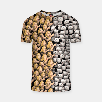 Thumbnail image of Womans Yelling at Cats T-shirt, Live Heroes