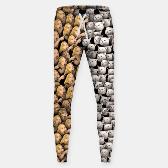Miniatur Womans Yelling at Cats Sweatpants, Live Heroes