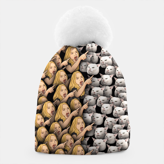 Miniatur Womans Yelling at Cats Beanie, Live Heroes