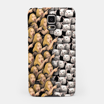 Miniatur Womans Yelling at Cats Samsung Case, Live Heroes