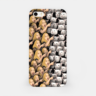 Miniatur Womans Yelling at Cats iPhone Case, Live Heroes