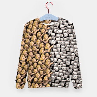 Miniatur Womans Yelling at Cats Kid's sweater, Live Heroes