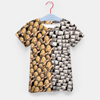 Thumbnail image of Womans Yelling at Cats Kid's t-shirt, Live Heroes