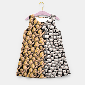 Miniatur Womans Yelling at Cats Girl's summer dress, Live Heroes