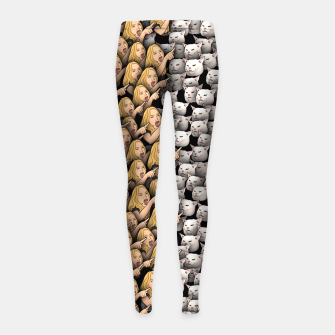 Miniatur Womans Yelling at Cats Girl's leggings, Live Heroes