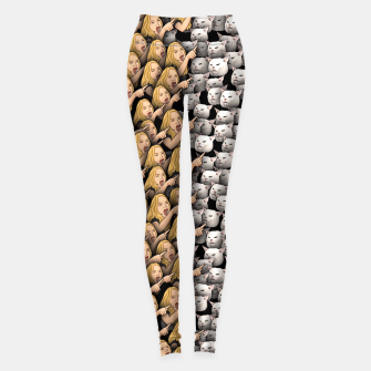 Thumbnail image of Womans Yelling at Cats Leggings, Live Heroes
