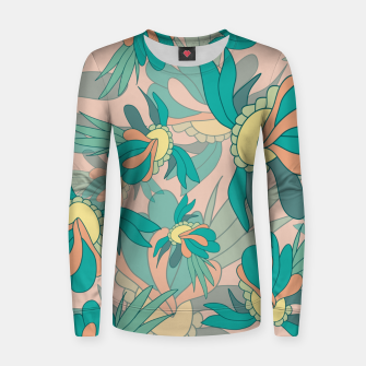 Thumbnail image of Abstract summer flowers Women sweater, Live Heroes