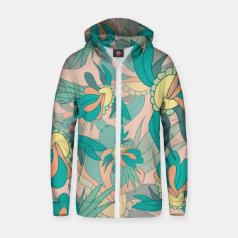 Thumbnail image of Abstract summer flowers Zip up hoodie, Live Heroes