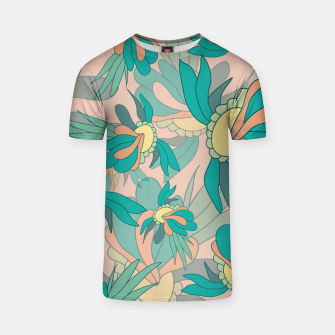 Thumbnail image of Abstract summer flowers T-shirt, Live Heroes