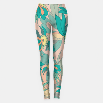 Thumbnail image of Abstract summer flowers Leggings, Live Heroes