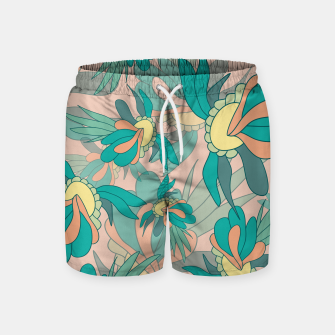 Thumbnail image of Abstract summer flowers Swim Shorts, Live Heroes