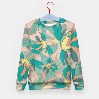Thumbnail image of Abstract summer flowers Kid's sweater, Live Heroes