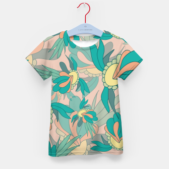 Thumbnail image of Abstract summer flowers Kid's t-shirt, Live Heroes