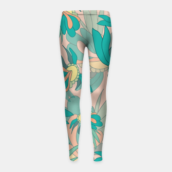 Thumbnail image of Abstract summer flowers Girl's leggings, Live Heroes
