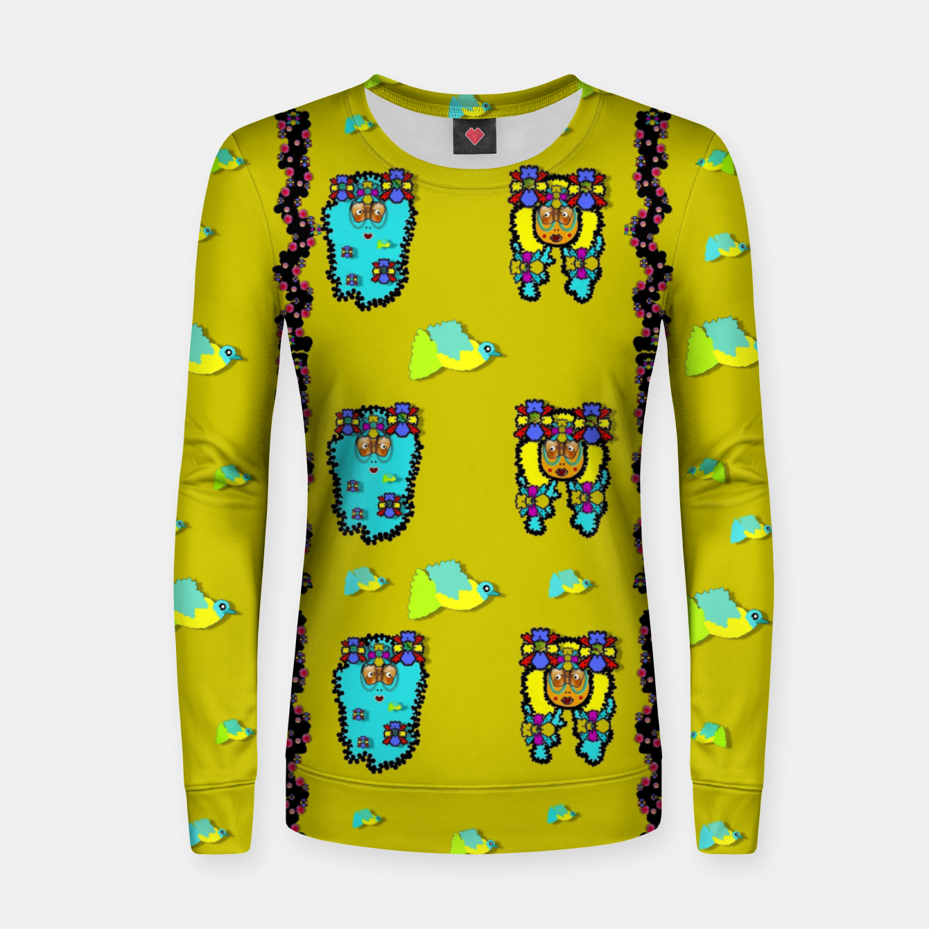 Image of peace people hippie friends and free living fauna  Women sweater - Live Heroes