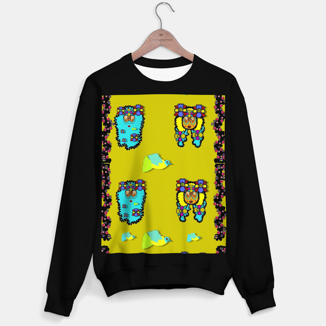 Image of peace people hippie friends and free living fauna  Sweater regular - Live Heroes