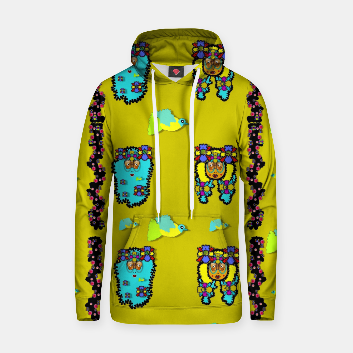 Image of peace people hippie friends and free living fauna  Hoodie - Live Heroes