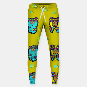 Thumbnail image of peace people hippie friends and free living fauna  Sweatpants, Live Heroes