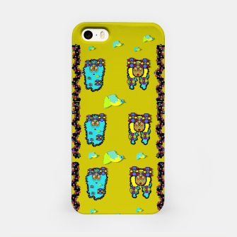 Miniatur peace people hippie friends and free living fauna  iPhone Case, Live Heroes