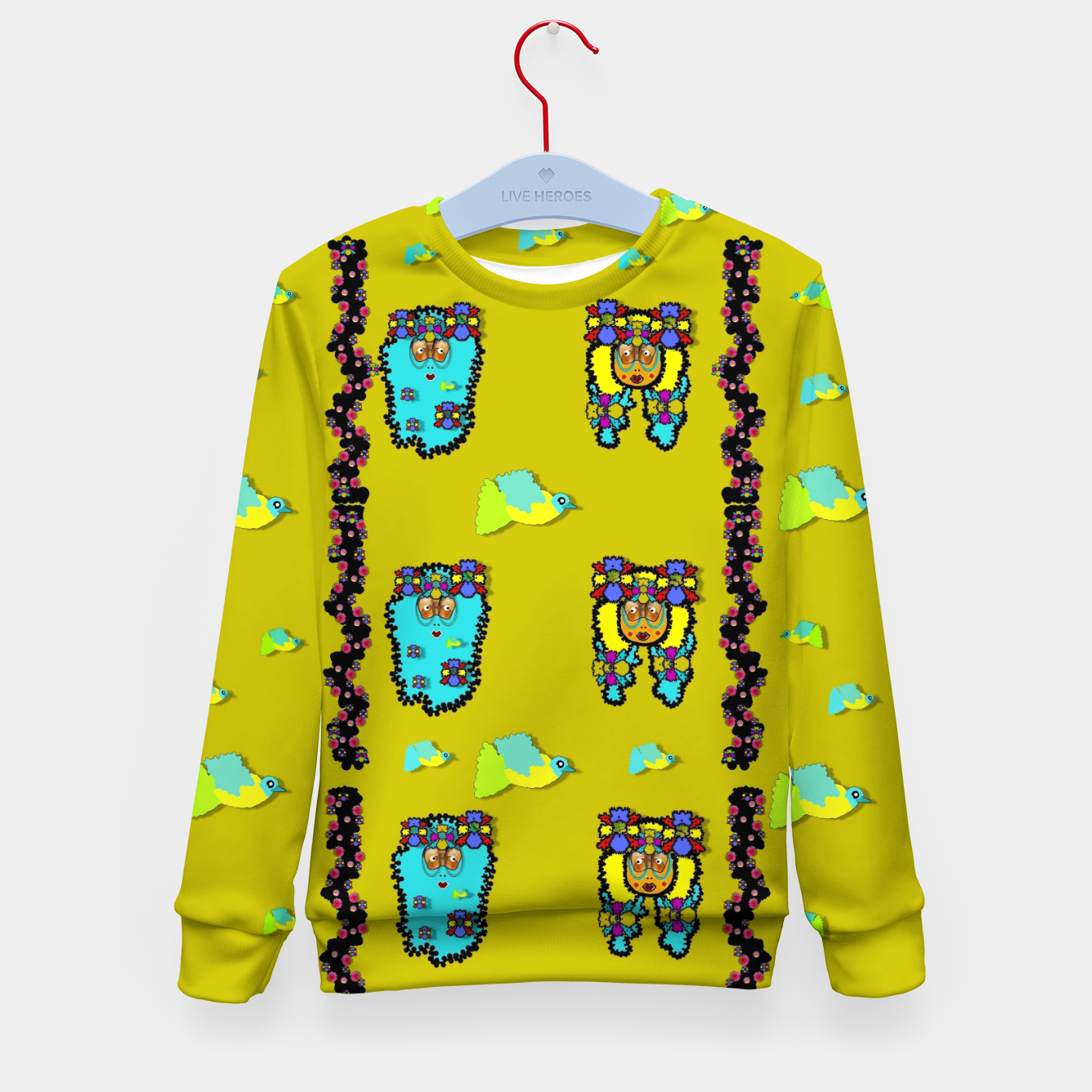 Foto peace people hippie friends and free living fauna  Kid's sweater - Live Heroes
