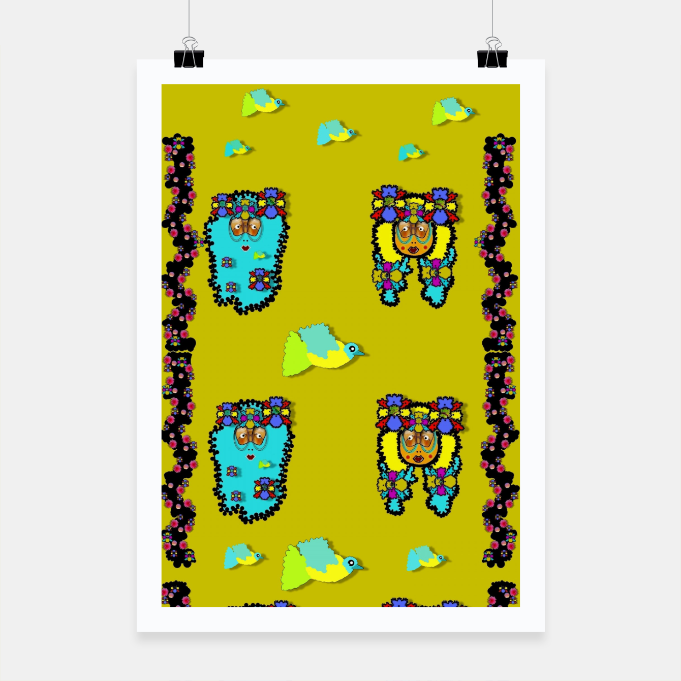 Image of peace people hippie friends and free living fauna  Poster - Live Heroes