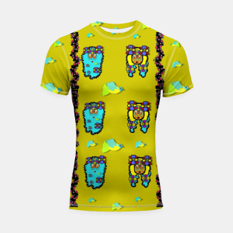 Miniatur peace people hippie friends and free living fauna  Shortsleeve rashguard, Live Heroes