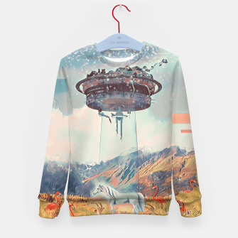 Thumbnail image of Take me too Kid's sweater, Live Heroes